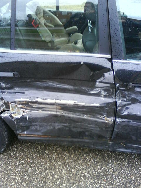 Passenger side damage. Thanks a million, Ashley