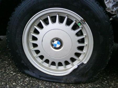 Daddy got a flat tire